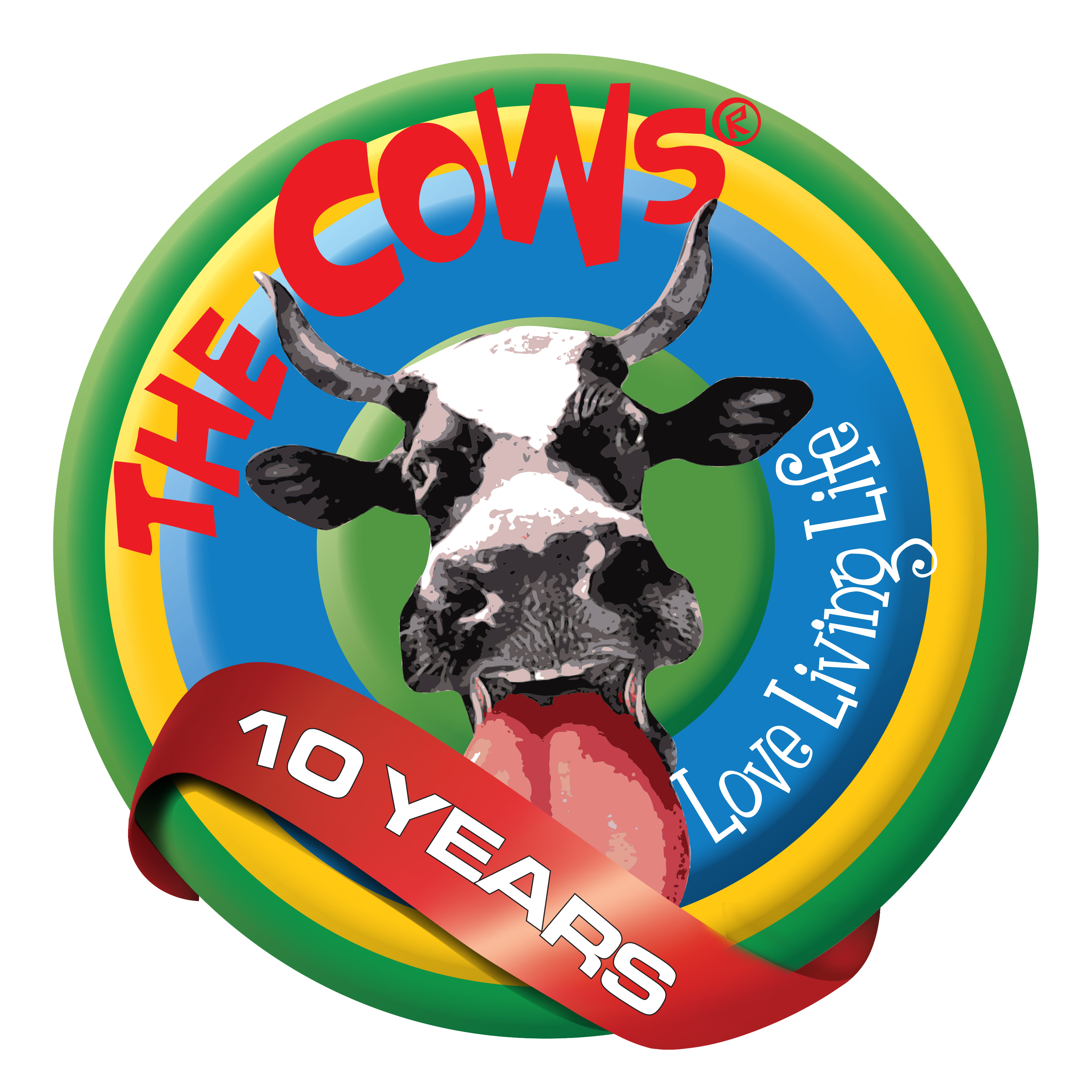 The Cows 10 Year Logo (1)